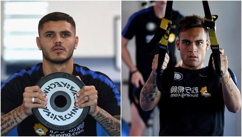Inter: Icardi e Lautaro Martinez, che grinta ad Appiano!