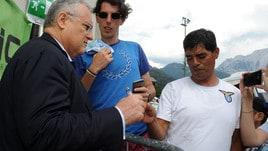 Lazio, la star è Lotito: quanti selfie con il presidente