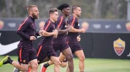 Roma, allenamento intenso a San Diego