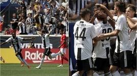 La Juventus batte il Benfica ai rigori. Nei 90', l'eurogol di Clemenza risponde a Grimaldo