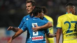 Amichevole Napoli-Chievo 2-0: decidono Verdi e Tonelli