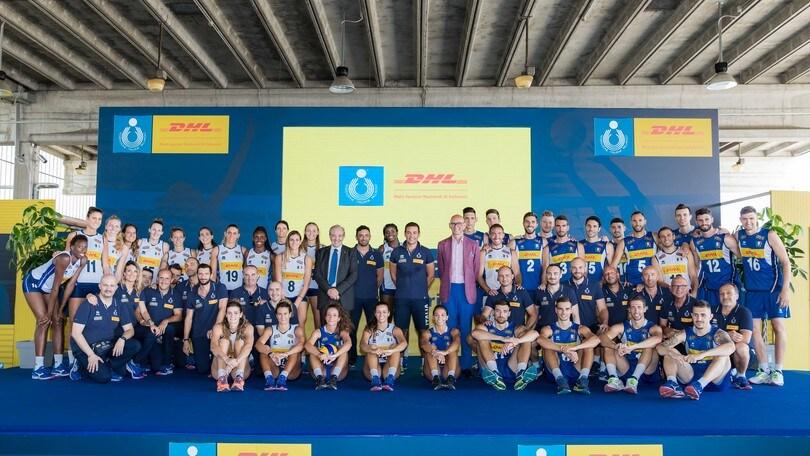 Volley: le nazionali azzurre in casa dello sponsor DHL