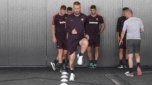Roma, allenamento in palestra a Dallas