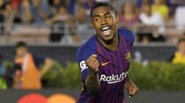 Barcellona-Roma, Malcom replica a Manolas:«Resto calmo davanti alle provocazioni»