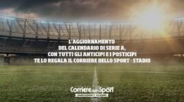 Il calendario completo della Serie A: solo giovedì 2 agosto
