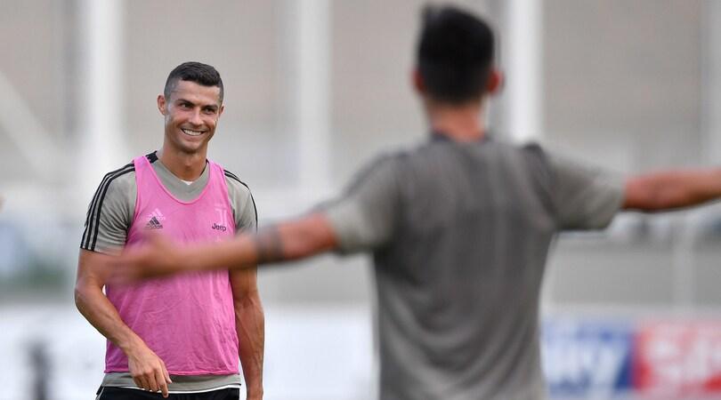 Juventus, Cristiano Ronaldo e Dybala, prove di intesa alla Continassa
