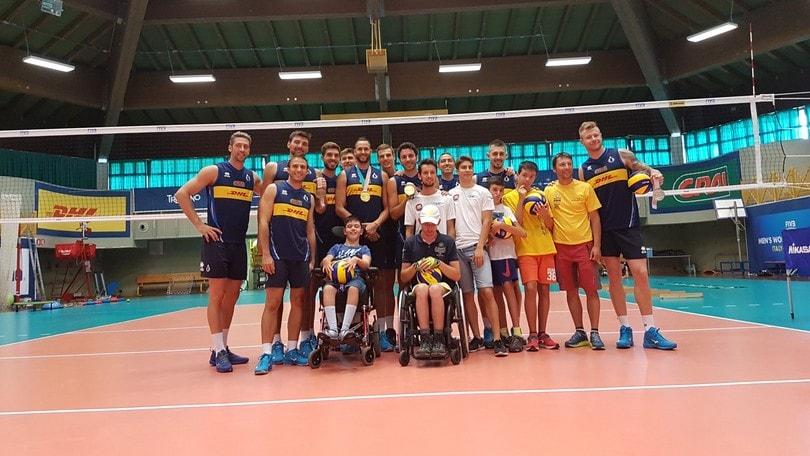 Volley: una visita 'speciale' per gli azzurri di Blengini
