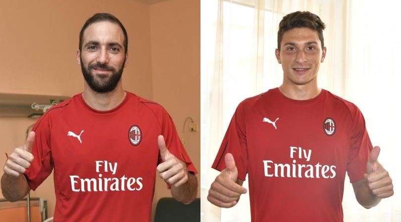Milan, ecco Higuain e Caldara