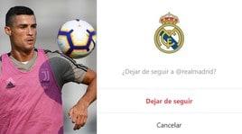 Ronaldo, taglio netto col passato: non segue più il Real su Instagram