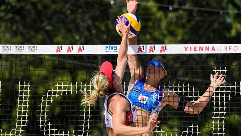 Beach Volley: Menegatti-Orsi Toth  a Vienna vanno fuori agli ottavi