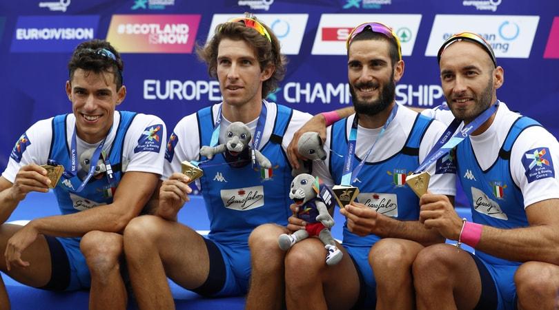 Europei di canottaggio, oro azzurro nel quattro di coppia pesi leggeri maschile