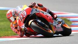 MotoGp Brno, Libere 4: comanda Marquez, Rossi settimo
