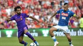 Figuraccia Napoli, il Liverpool ne segna cinque