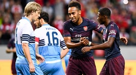 La Lazio cade sotto i colpi di Nelson e Aubameyang: con l'Arsenal finisce 2-0