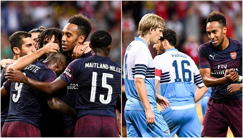 Lazio sconfitta dall'Arsenal: in amichevole finisce 2-0