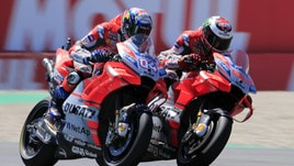 MotoGp Brno, Ducati top nel warm up, Rossi decimo