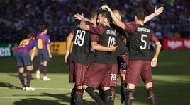 Milan, André Silva stende il Barcellona al 93'