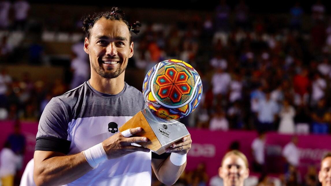 Il tennista ligure (con le treccine) batte l'argentino n.4 del mondo e si prende il suo primo titolo sul cemento in carriera