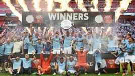 Manchester City, trionfo nella Community Shield