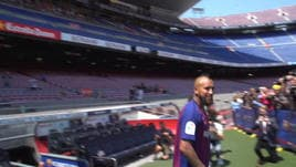 Arriva Vidal, festa cilena al Camp Nou