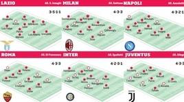 Serie A, le formazioni titolari delle big a 10 giorni dal via