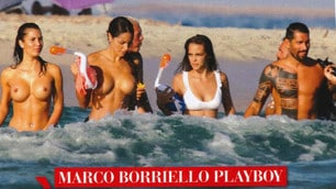 Borriello, a play box holiday surrounded by models in Ibiza