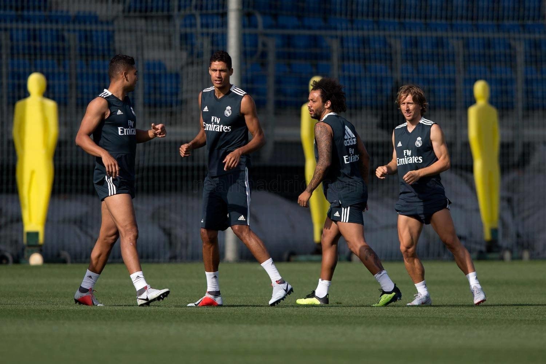 Modric, primo allenamento con il Real Madrid