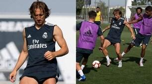 Real Madrid, Luka Modric è tornato ad allenarsi