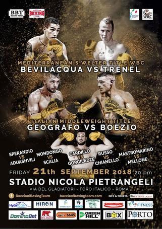 A settembre grande boxe al Foro Italiano