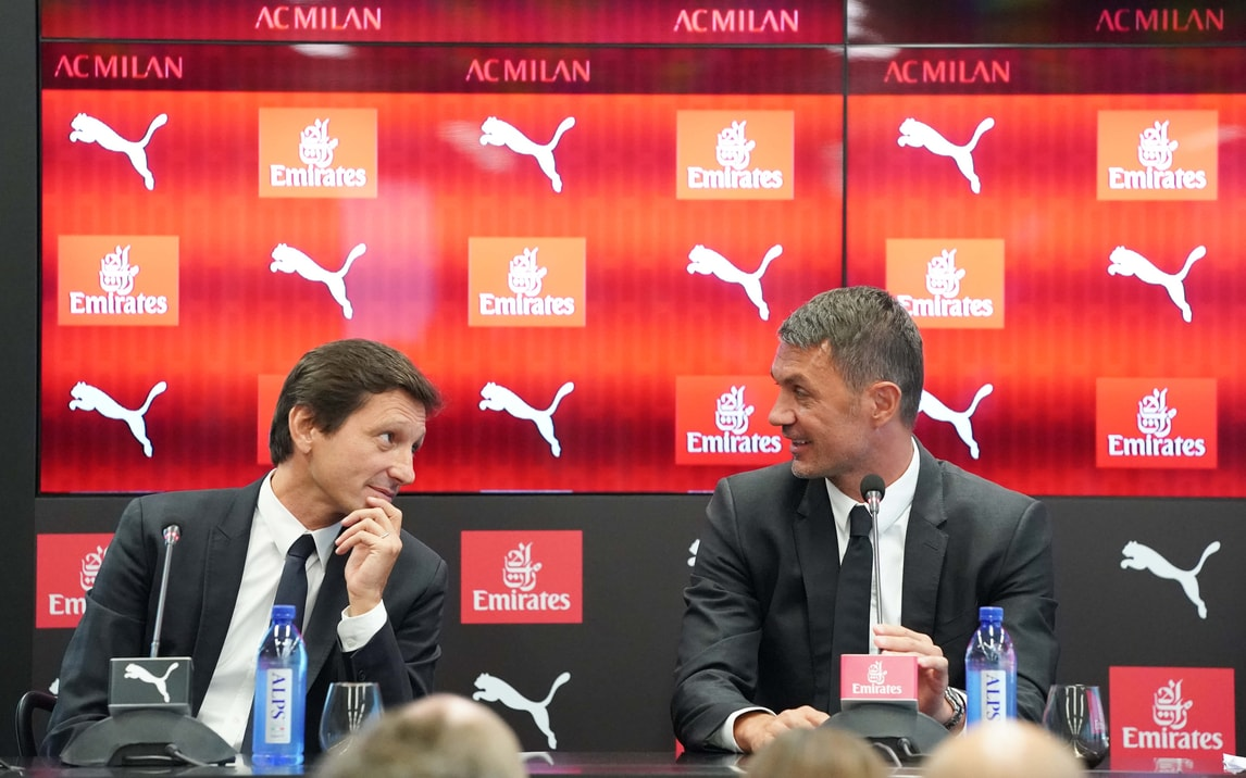 """Milan, Leonardo e Maldini """"conoscono"""" la squadra. Cori per l'ex capitano"""
