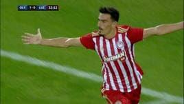 Europa League, doppietta dell'ex Genoa Lazaros