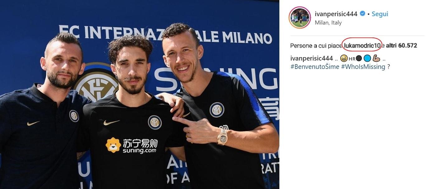 Inter, Perisic-Brozovic-Vrsaljko: «Chi manca?». E Modric mette il like...
