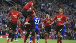 Man United-Leicester 2-1, capitan Pogba fa sorridere Mou