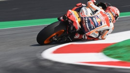 MotoGp Austria, Libere 3: comanda ancora Marquez, Rossi 15°