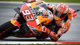 MotoGp Austria, griglia di partenza: pole per Marquez d'un soffio, Rossi 14°