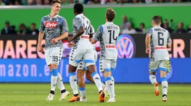Wolfsburg-Napoli 3-1: azzurri ko, Milik non basta