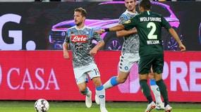 Napoli, a Wolfsburg debutta la maglia grigia