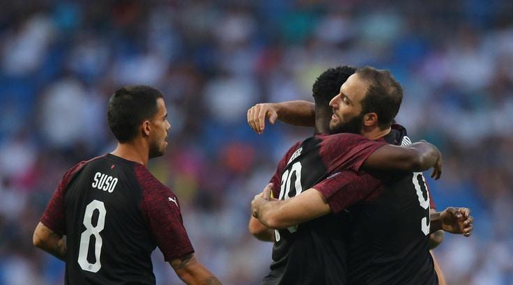 Real-Milan 3-1, Higuain non basta: trofeo Bernabeu ai blancos