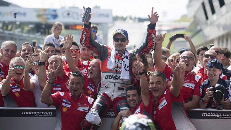 MotoGp Austria, Lorenzo: «Una delle mie più belle vittorie»