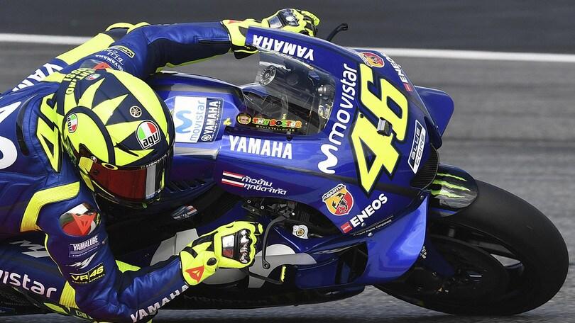 MotoGp Austria, Rossi: «I primi tre troppo forti per noi»