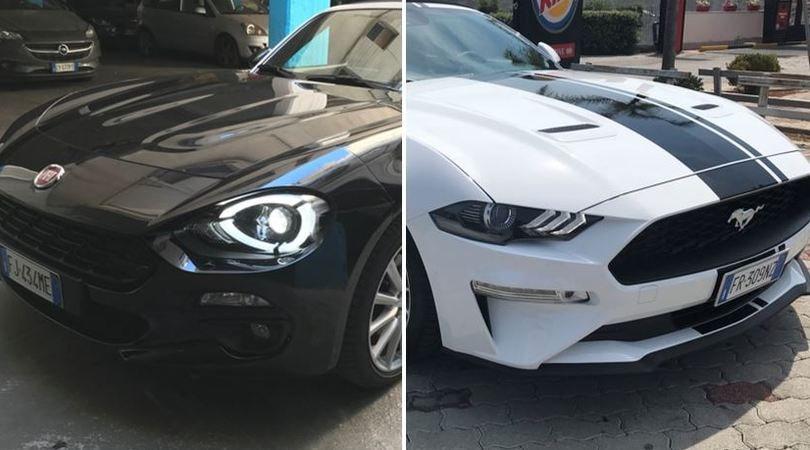 A confronto, 124 Spider vs Mustang 2.3 convertibile