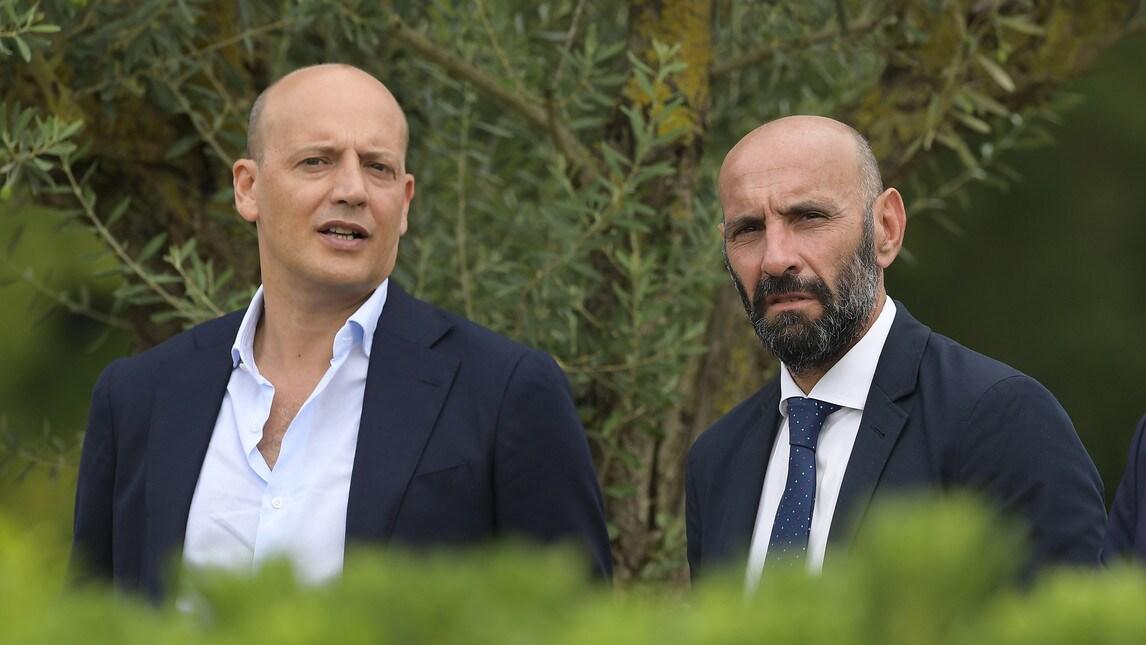 Il direttore sportivo segue con attenzione la nuova creatura di Di Francesco in attesa della presentazione ufficiale di Nzonzi
