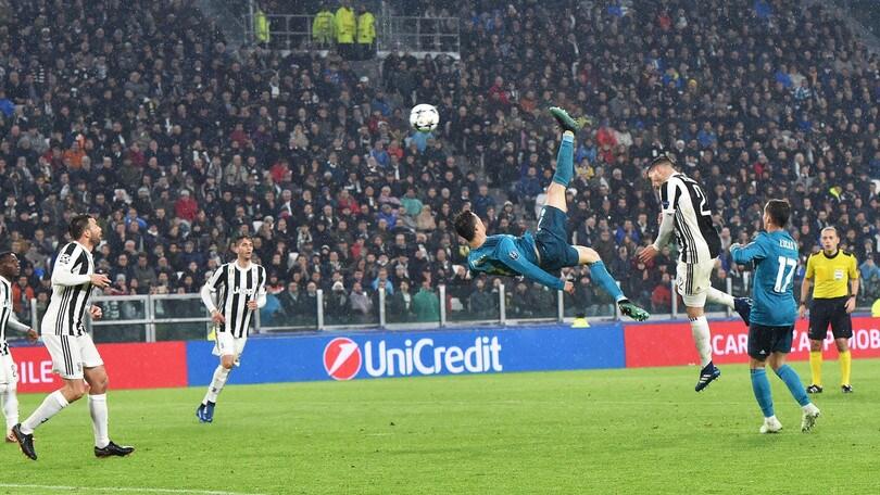 La rovesciata di Cristiano Ronaldo in Juventus-Real Madrid verso il gol dell'anno