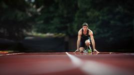 Atletica:Filippo Tortu'corre'con Fastweb