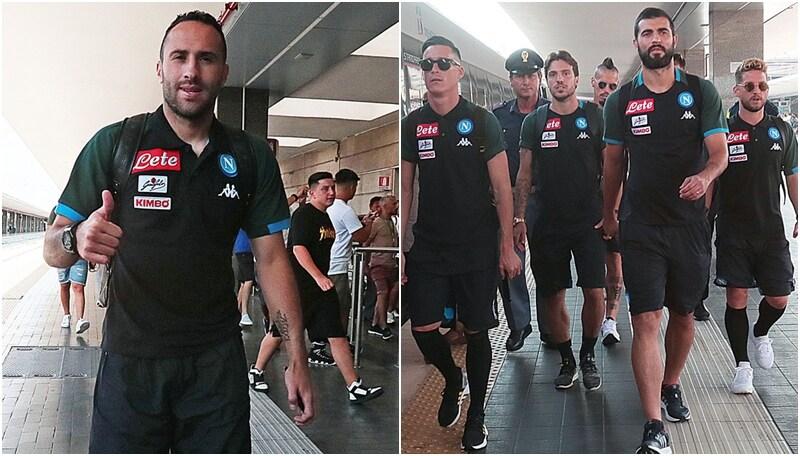 Napoli, anche Ospina è partito per Roma