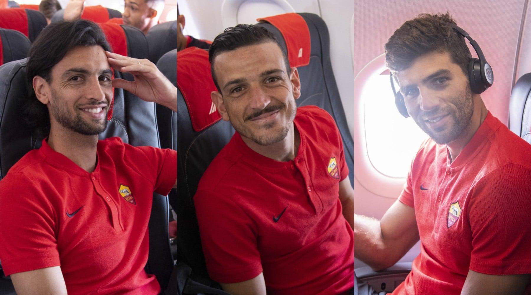 Roma, sorrisi sul volo verso Torino