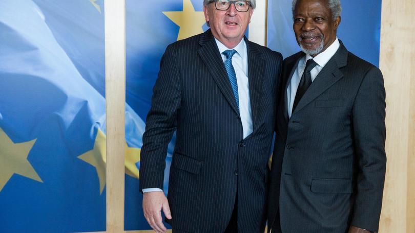 Annan: Juncker, è stato un grande leader