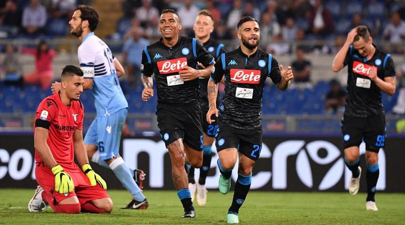 Lazio-Napoli 1-2 Ancelotti fa subito festa