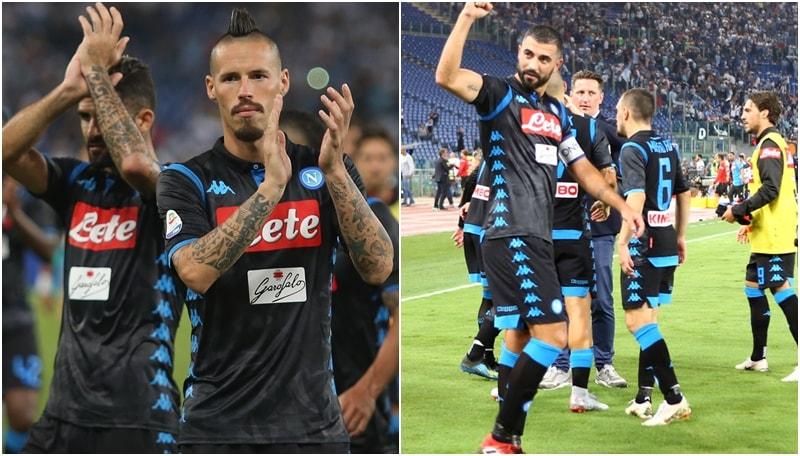 Milik-Insigne ribaltano la Lazio: il Napoli festeggia all'Olimpico
