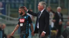 Ancelotti: «Napoli, sei forte!». Insigne: «Sogno lo scudetto»